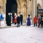 The Rev. Alan Greenoff (second left) at the Investiture of Mr T Cook of Guist as High Sheriff of Norfolk at Norwich Cathedral 1990.